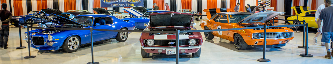 Special exhibits of classic cars and hot rods